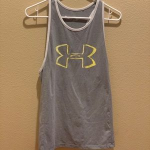 Under Armour Yellow & GreyTank Top Size M